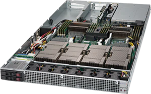 Servidor Supermicro SuperServer 1028GQ-TVRT – 4 GPUs – 2 CPUs – 4 Drives NVIDIA® NVLink™