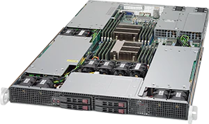 Servidor Supermicro SuperServer 1028GR-TR – 3 GPUs – 2 CPUs – 4 Drives NVIDIA® NVLink™