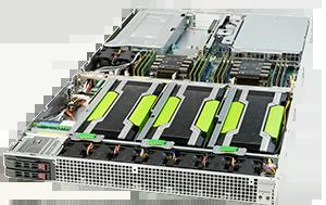 Servidor Supermicro SuperServer 1019GP-TT – 2 GPUs – 1 CPU – 6 Drives